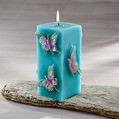 Florentine Butterfly Pillar Candle