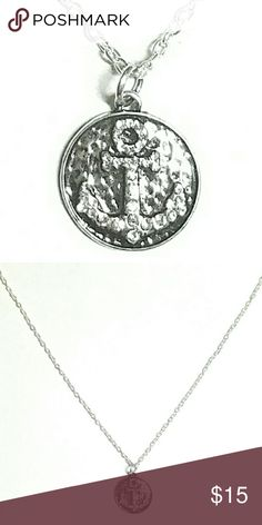 Silver Textured Anchor Necklace Free shipping! Jewelry Necklaces