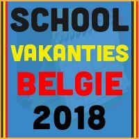 De datums van de Belgische schoolvakanties voor het kalender jaar 2018 via http://www.feestdagen-belgie.be/