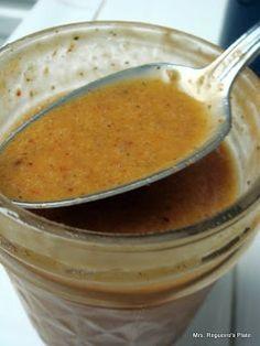 Chipotle's Honey Vinaigrette Dressing. Used lemon instead of lime. #paleo
