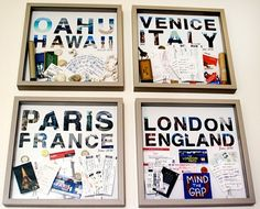 This is such a good idea. I have so many train/plane/concert/museum tickets and keepsakes from different countries that this would be the perfect way to organize it all.