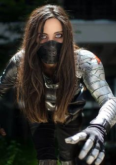Bucky(Winter Soldier) Cosplay - - COSPLAY IS BAEEE! Tap the pin now to grab yourself some BAE Cosplay leggings and shirts! From super hero fitness leggings, super hero fitness shirts, and so much more that wil make you say YASSS! Winter Soldier Cosplay, Winter Soldier Bucky, Soldier Costume, Winter Soldier Mask, Amazing Cosplay, Best Cosplay, Female Cosplay, Bucky Barnes, Nick Fury