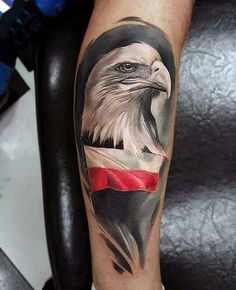 60 Polish Eagle Tattoo Designs For Amazing Perfectly Place Eagle Tattoos Castle Tattoo Art Incredible Eagle Tattoo Design Ideas Patriotische Tattoos, Head Tattoos, Wolf Tattoos, Sleeve Tattoos, Celtic Tattoos, Hawaiianisches Tattoo, Leg Tattoo Men, Tattoo Designs And Meanings, Tattoo Designs Men