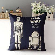 May the force be with you... in style. Add a little Star Wars love with these colorful art pillows. These adorable pillows come in five Star Wars designs. Size : 45cm x 45cm Finished Item, Invisible/H
