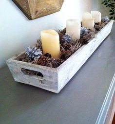 Shabby Chic Wooden Tray by CleverGoose on Etsy