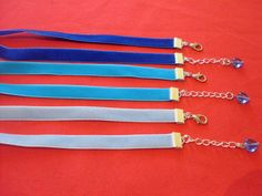 Adjustable 10m velvet chokers colours gothic/pagan/wican made to size blue heart