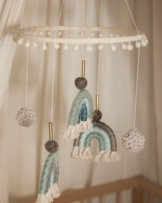 Diy And Crafts, Arts And Crafts, Baby Mobile, Baby Shower Diapers, Macrame Design, Moonchild, Boho Baby, Bari, Baby Room Decor