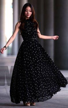 2100b695bedc Sisjuly 2016 Fashion Women s polka dots Maxi dress long Casual Summer Beach  Chiffon Party Dresses style cheap vestidos de festa - Best price store