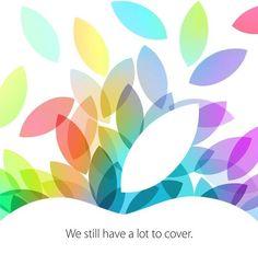 """Apple verschickt iPad Keynote Einladungen für 22.10.2013! - http://apfeleimer.de/2013/10/apple-verschickt-ipad-keynote-einladungen-fuer-22-10-2013 - Wie erwartet hat Apple soeben die Einladungen zum Apple Media Event im Oktober 2013, also die iPad 5 Keynote, versendet. Unter dem Motto """"We still have a lot to cover"""" scheint Apple für die iPad 5 Keynote bzw. iPad mini 2 Keynote noch einiges vorbereitet zu haben. Neben einem Update ..."""