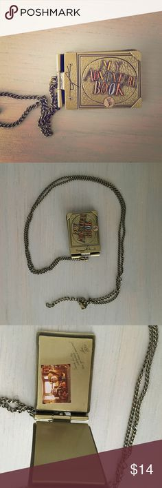 """Disney/Pixar Up Adventure Book Necklace New, no tags. No wear or damage. Originally from Hot Topic. Adorable details. 17"""" chain. Jewelry Necklaces"""