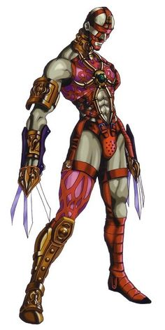 View an image titled 'Voldo Art' in our Soul Calibur art gallery featuring official character designs, concept art, and promo pictures. Iconic Characters, Fantasy Characters, Soul Calibur Characters, Soul Edge, Marvel Cartoon Movies, Japanese Warrior, Dark Fantasy Art, Fantasy Story, Costume Ideas