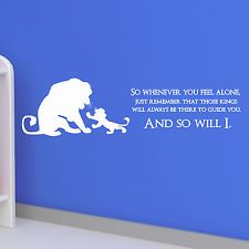 Lion King Quote Wall Decal | LION KING QUOTE, Disney, Children, Kids,