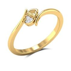 Buy Interlocking Hearts Diamond Engagement Ring in Gms Gold Online Gold Ring Designs, Gold Bangles Design, Gold Earrings Designs, Gold Jewellery Design, Gold Jewelry Simple, Gold Rings Jewelry, Womens Jewelry Rings, Gold Finger Rings, Gold Heart Ring