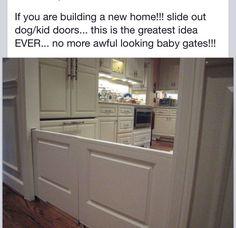 Child/ pet safety door.  Similar to Dutch doors Dog Gates, Puppy Gates, Child Gates, Baby Gates, Dog Baby, Ugly Baby, Doggy Doors, Pet Door, Dutch Doors
