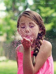 Glitter photo shoot- every girl  deserves at least one