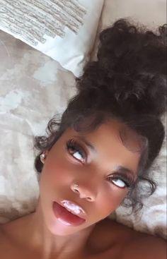 Baddie Hairstyles, Black Girls Hairstyles, Cute Hairstyles, Hairstyle Ideas, Straight Hairstyles, Black Girl Aesthetic, Aesthetic Hair, Aesthetic Fashion, Dark Skin Beauty