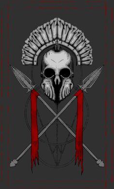 Eternal Warrior - Ilustração digital por mim desenvolvida para estampar camisetas