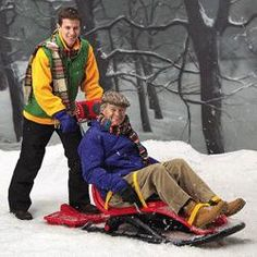 Snow Coach allows those with disabilities to be fully included, supported and enjoy the fun with their families and friends in the snow!  complete with pelvic, thigh and leg straps, adjustable head support and optional chest harness and trunk supports. Can be pushed or pulled and has a sleigh board which can be attached to the back so someone can ride along standing...
