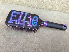 Cute Christmas Gift idea for stocking stuffers, cheer squad or dance team! Custom hand painted PADDLE BRUSH personalized by WhatchawantDesign