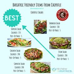Bariatric Eating, Bariatric Recipes, Bariatric Surgery, Burrito Bowl Calories, White Rice Calories, Eating Clean, Healthy Eating, Salad Nutrition Facts, Clean Eating