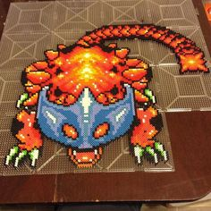 Helmasaur King from The Legend of Zelda: A Link to the Past perler beads by  perler_purrs