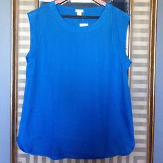 J. Crew Factory blue blouse Royal blue blouse. Never Worn! Size m. J.Crew Factory Tops Blouses