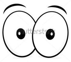 Komiks Oczy Oczy Wektor Patrząc Zaskoczony! grafika stockowa - Clipart.me