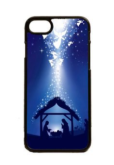 BLUE CHRISTMAS NATIVITY SCENE IPHONE 5 6 6S 7 CASE  #Apple