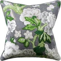 """This crisp, Mary MacDonald print will energize any space Dimensions: 22"""" x 22"""" zipper closure with down insert"""