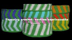 tapestry crochet: cestino/coprivasetto all'uncinetto