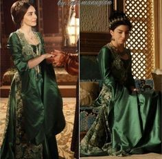 Magnificent Heritage - Green dress and yelek