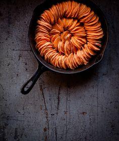 Crispy Sweet Potato Roast with Herbed Coconut Crème Fraîche