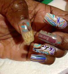 My nails for the International Convention for Jehovah's Witnesses