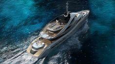 Pininfarina unveiled in collaboration with Italian shipyard Rossinavi a 230-foot superyacht concept - Aurea. #yachtgamestrong #Aurea #aureayacht #millionaire #richlife #goodlife #yacht #Pininfarina #luxuryes