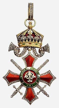 Order of Military Merit III grade with brilliants, Kingdom of Bulgaria Military Signs, Military Ranks, Military Orders, Military Girl, Medan, Military Decorations, Grand Cross, The Royal Collection, Ancient Symbols