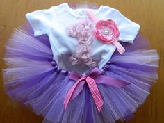 Pink lavender purple First Birthday Tutu by FunkidsandUsBoutique