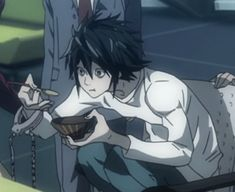 Elle Lawliet, Emo, L Icon, Triste Disney, Minion Meme, Death Note L, Reasons To Live, Anime Stickers, Anime Characters