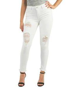 Midrise skinny white jean