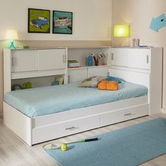 Parisot Snoop Bookcase Bed - 2572ENSE
