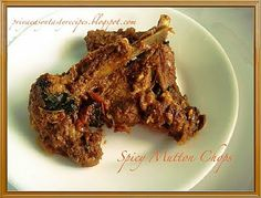 Priya's Versatile Recipes: Spicy Mutton Chops