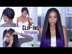 How to Clip in Hair Extensions on Short or Natural Hair + Custom Purple Color [Video] - Black Hair Information