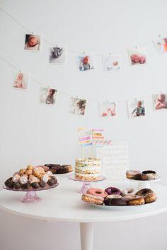 Donut party first birthday | Photos by Nicki Sebastian | 100 Layer Cakelet