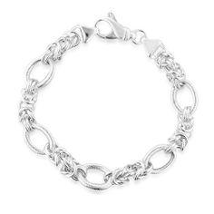 """Sterling Silver Designer Fancy Link Bracelet - 7.5"""" Netaya. $64.95. Save 61%!"""