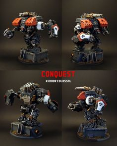 """""""Conquest""""; a Khador model from the tabletop wargame """"Warmachine"""",  by Marc de Ruiter"""