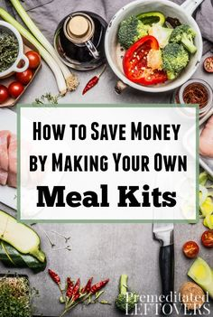 Meal subscription boxes sure are convenient, but you can easily make them yourself. Check out these tips on How to Save Money by Making Your Own Meal Kits. DIY meal prep idea and kitchen organization tips to use your own recipe in prep-ahead meal kits for your family.