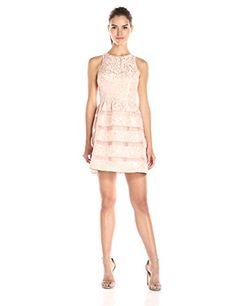 Aidan by Aidan Mattox Womens Sleeveless Cocktail Party Dress with Skirt Detail Blush 4 -- You can find out more details at the link of the image. (Note:Amazon affiliate link)