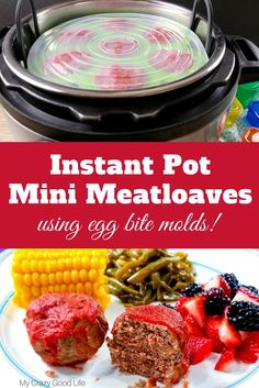 instant pot baby food This recipe for mini meatloaves makes use of your egg bite or baby food molds! You can make this easy dinner recipe in the Instant Pot, slow cooker, or in the oven. This is one of our favorite family dinner recipes! 21 Day Fix Dinner Instant Pot Baby Food, Best Instant Pot Recipe, Instant Pot Dinner Recipes, Easy Dinner Recipes, Easy Recipes, Healthy Slow Cooker, Healthy Crockpot Recipes, Baby Food Recipes, Food Baby