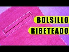 Tutorial: Bolsillo ribeteado - YouTube Bolso embutido com duas vistas
