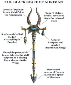 Ghostavenger: Ahriman's Wargear Warhammer 40k Rpg, Warhammer 40k Figures, Warhammer Fantasy, Chaos Legion, Thousand Sons, Game Workshop, Fantasy Weapons, The Grim, Space Marine