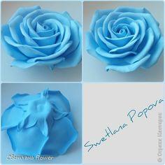 Украшение Моделирование конструирование Голубая роза из фоамирана Фоамиран фом